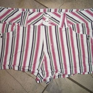 Candies Pink and Black Striped Swim Surf Shorts 9